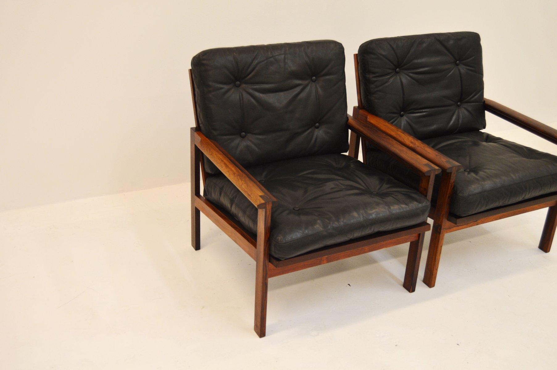 vintage sessel und hocker aus palisander von illum wikkels f r niels eilersen bei pamono kaufen. Black Bedroom Furniture Sets. Home Design Ideas
