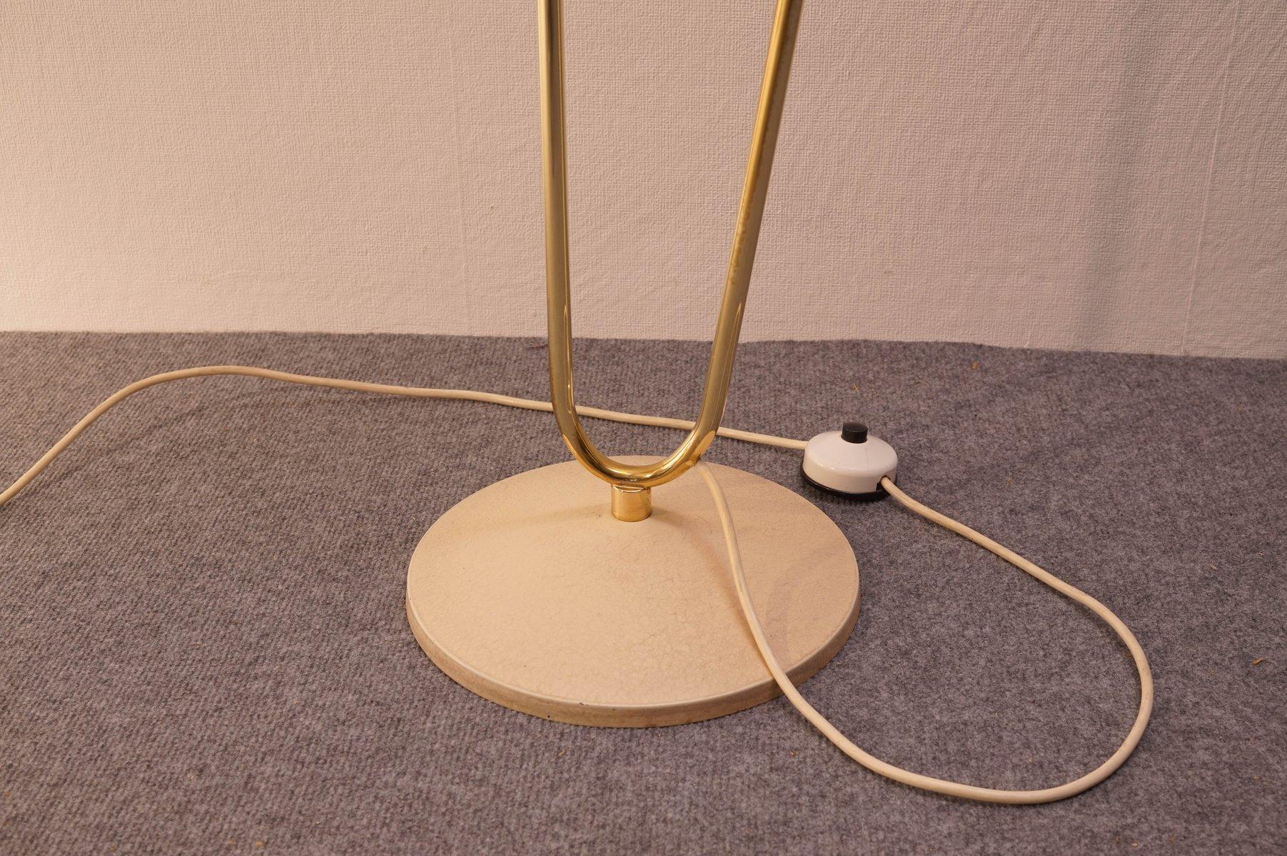 stehlampe mit schirm in creme 1950er bei pamono kaufen. Black Bedroom Furniture Sets. Home Design Ideas