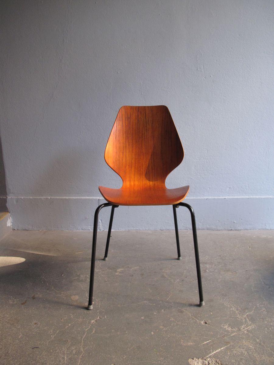 vintage esszimmerst hle aus teak furnier und schichtholz. Black Bedroom Furniture Sets. Home Design Ideas