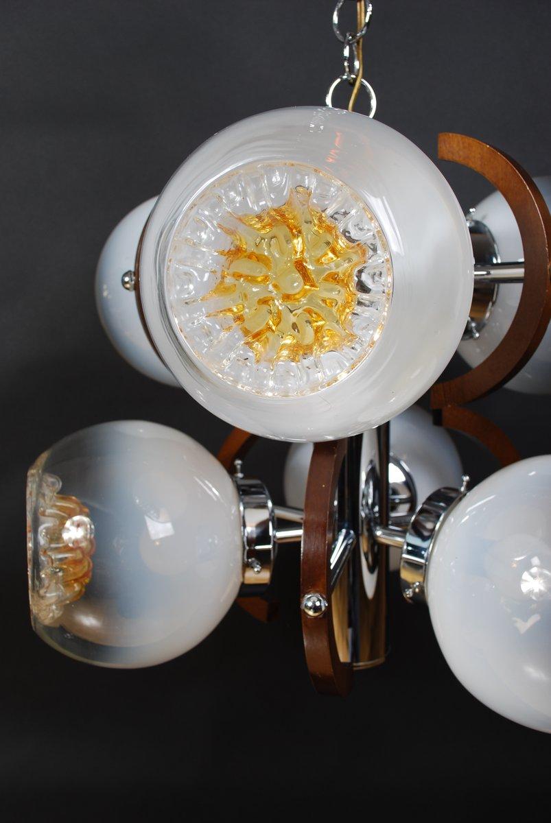 vintage murano glas h ngelampe mit 6 leuchten von mazzega bei pamono kaufen. Black Bedroom Furniture Sets. Home Design Ideas