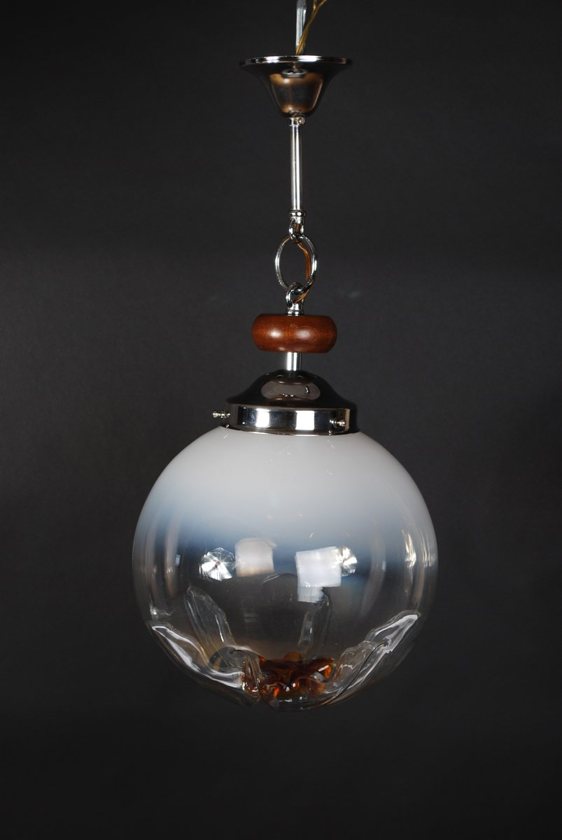 Vintage Murano Glass Hanging Lamp From Mazzega