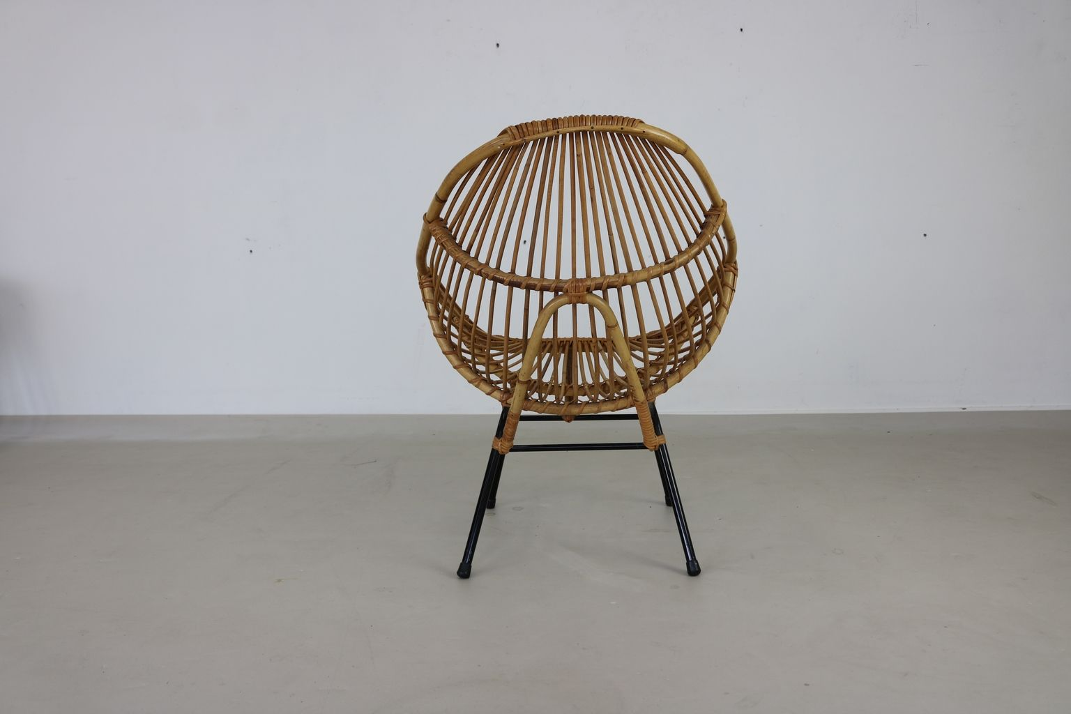 Dutch Rattan Tub Chairs from Rohé Noordwolde, 1960s, Set of 2 for ...