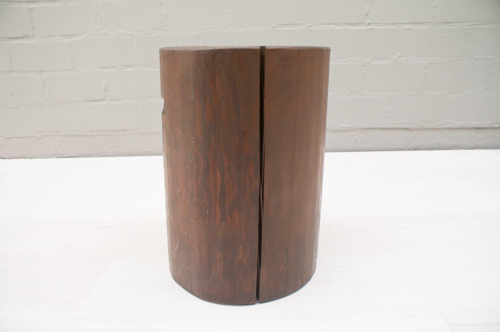 vintage baumstamm hocker 1940er bei pamono kaufen. Black Bedroom Furniture Sets. Home Design Ideas