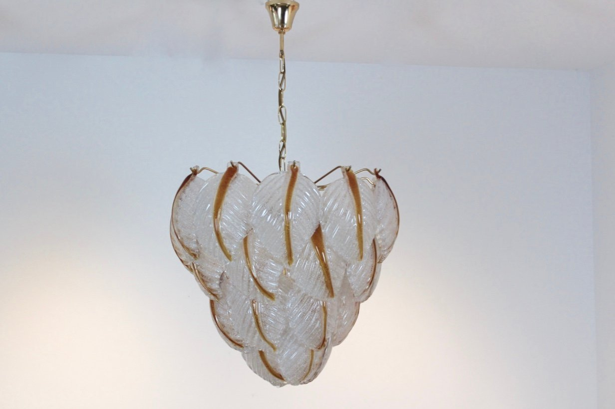 Murano glass leaves chandelier from mazzega 1970s for sale at pamono murano glass leaves chandelier from mazzega 1970s arubaitofo Choice Image