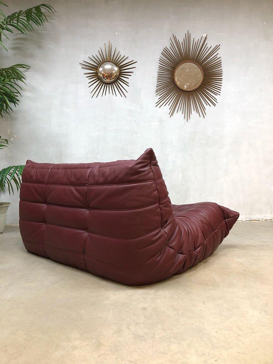 vintage togo ledersofa von michel ducaroy f r ligne roset 1970er bei pamono kaufen. Black Bedroom Furniture Sets. Home Design Ideas