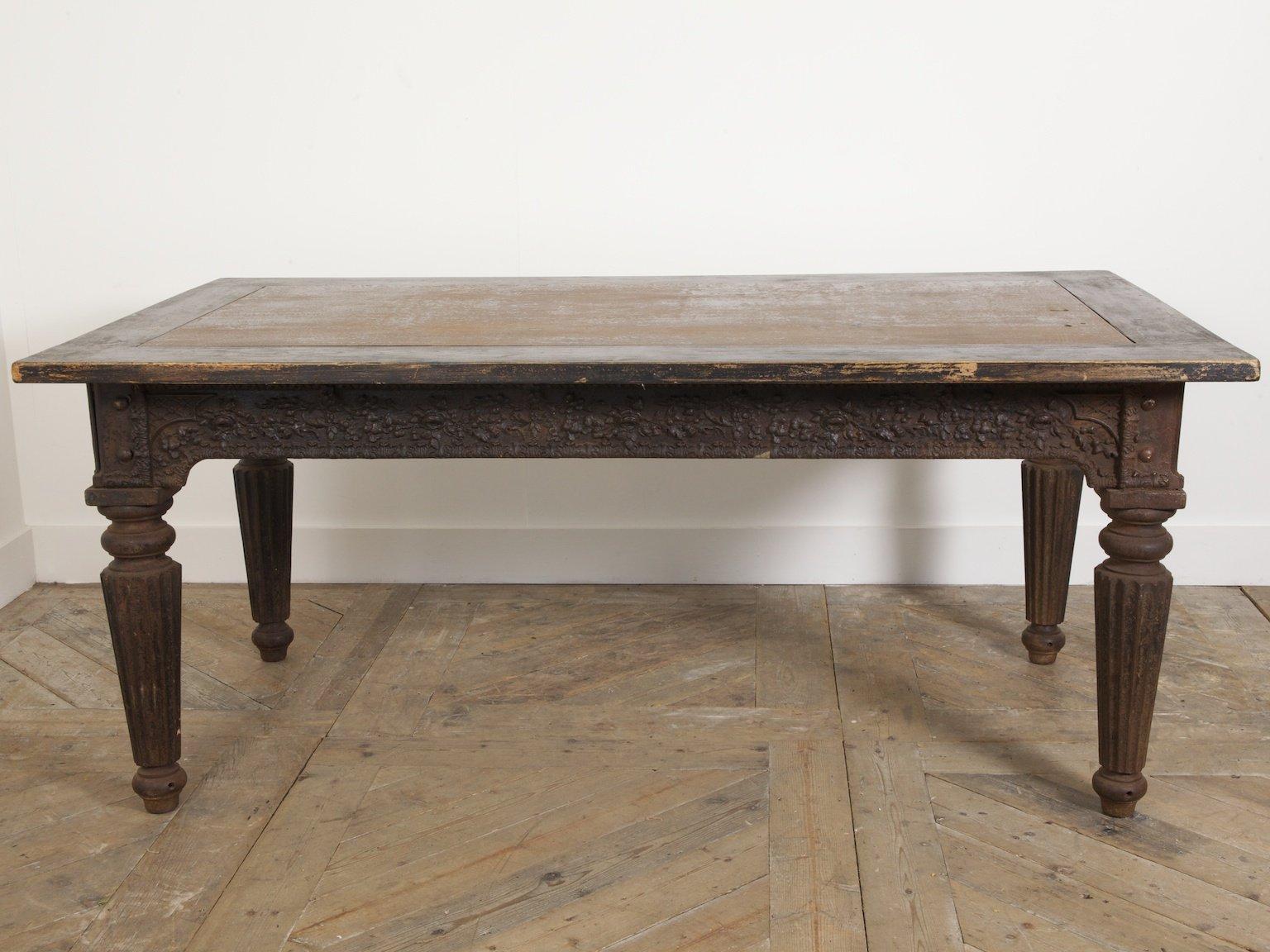 antiker gusseisen schreibtisch 1850er bei pamono kaufen. Black Bedroom Furniture Sets. Home Design Ideas