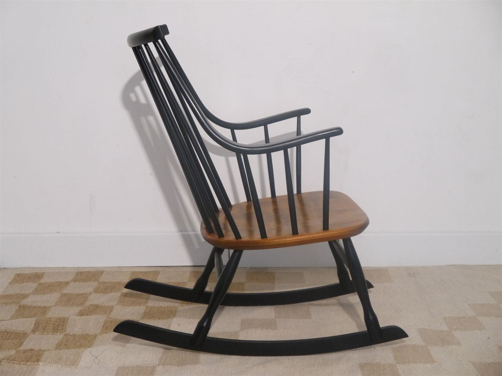 vintage rocking chair by lena larsson for nesto for sale at pamono. Black Bedroom Furniture Sets. Home Design Ideas