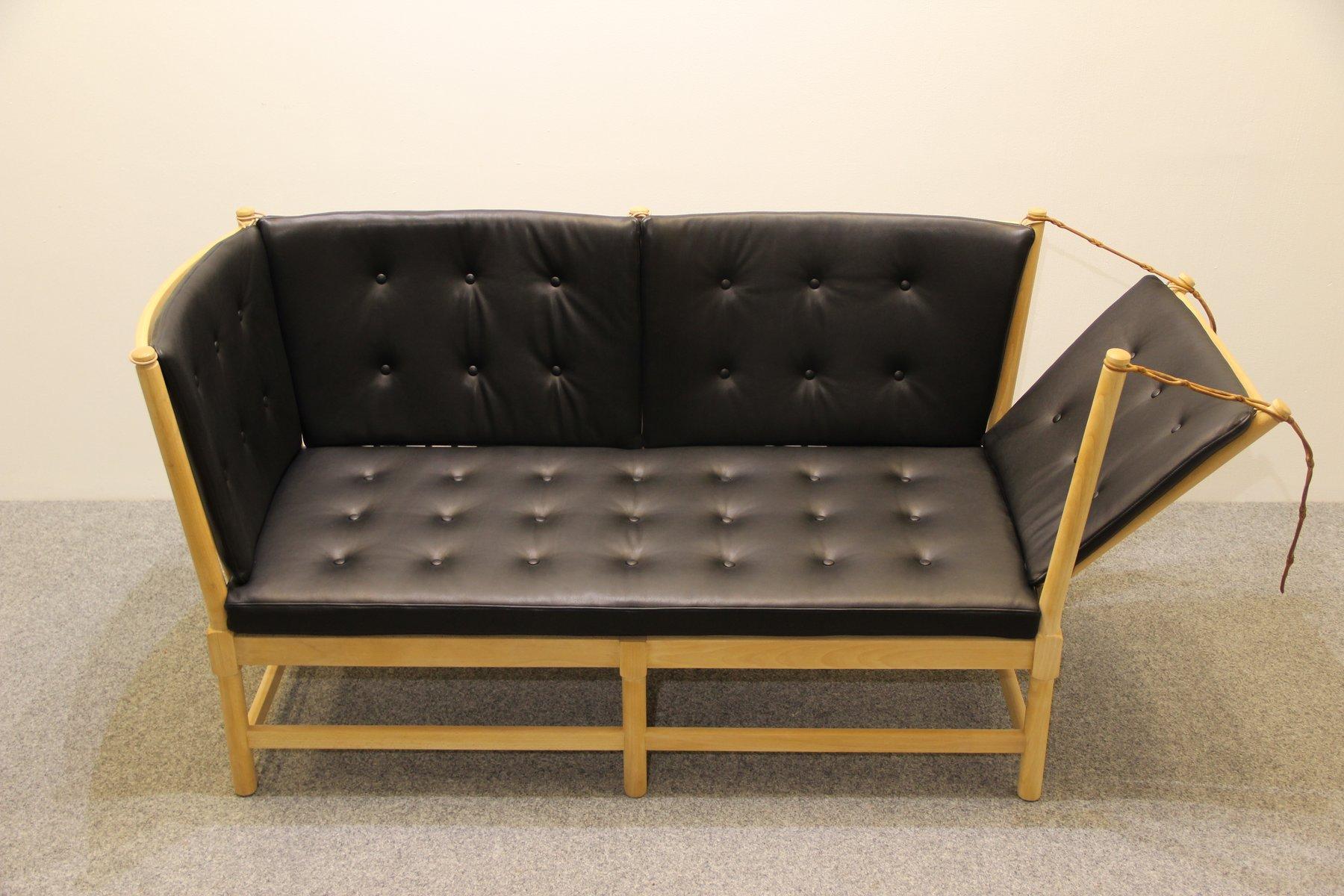 vintage 1789 sofa aus buche und anilinleder von borge mogensen f r fritz hansen bei pamono kaufen. Black Bedroom Furniture Sets. Home Design Ideas
