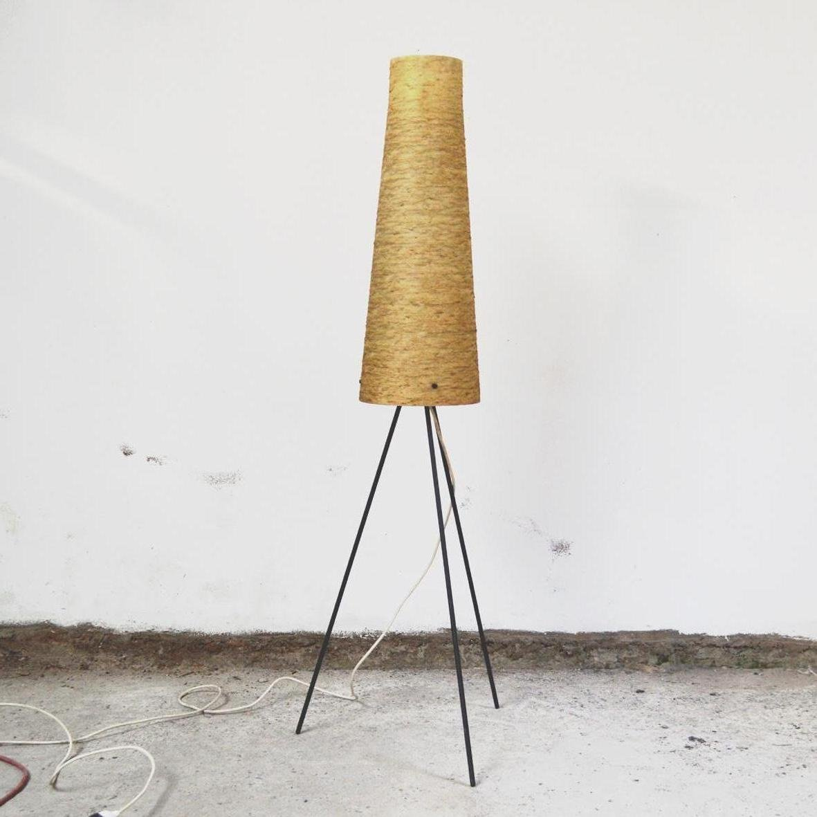 Tripod floor lamp in metal 1960s for sale at pamono aloadofball Gallery