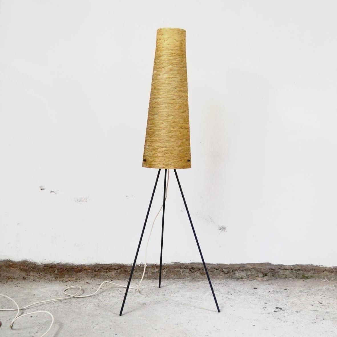 Tripod Floor Lamp In Metal 1960s