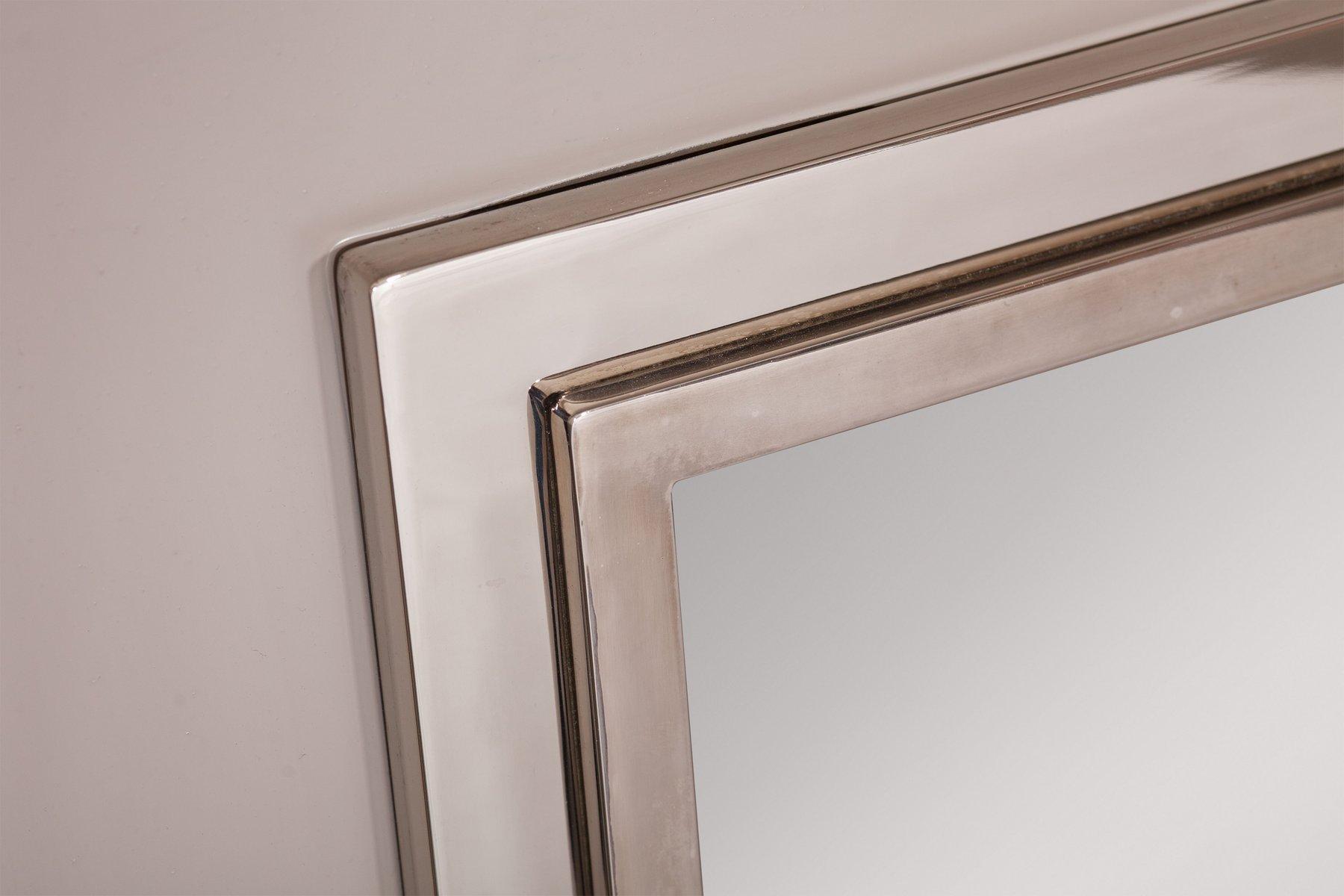 gro er verchromter spiegel von maison jansen 1980er bei. Black Bedroom Furniture Sets. Home Design Ideas