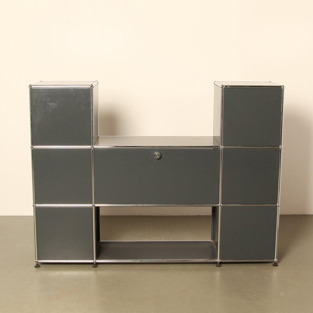shelving unit by fritz haller paul sch rer for usm haller 1960s for sale at pamono. Black Bedroom Furniture Sets. Home Design Ideas