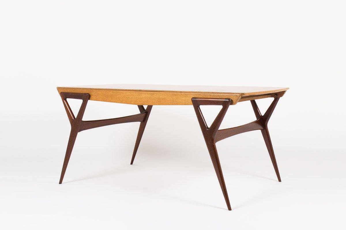 esstisch von louis paolozzi f r rene godfrid 1955 bei pamono kaufen. Black Bedroom Furniture Sets. Home Design Ideas