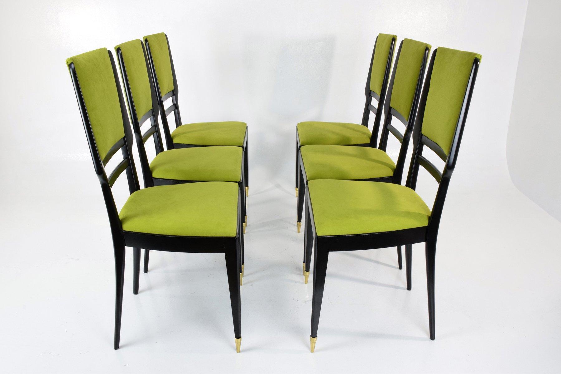 italienische esszimmerst hle 1950er 6er set bei pamono kaufen. Black Bedroom Furniture Sets. Home Design Ideas