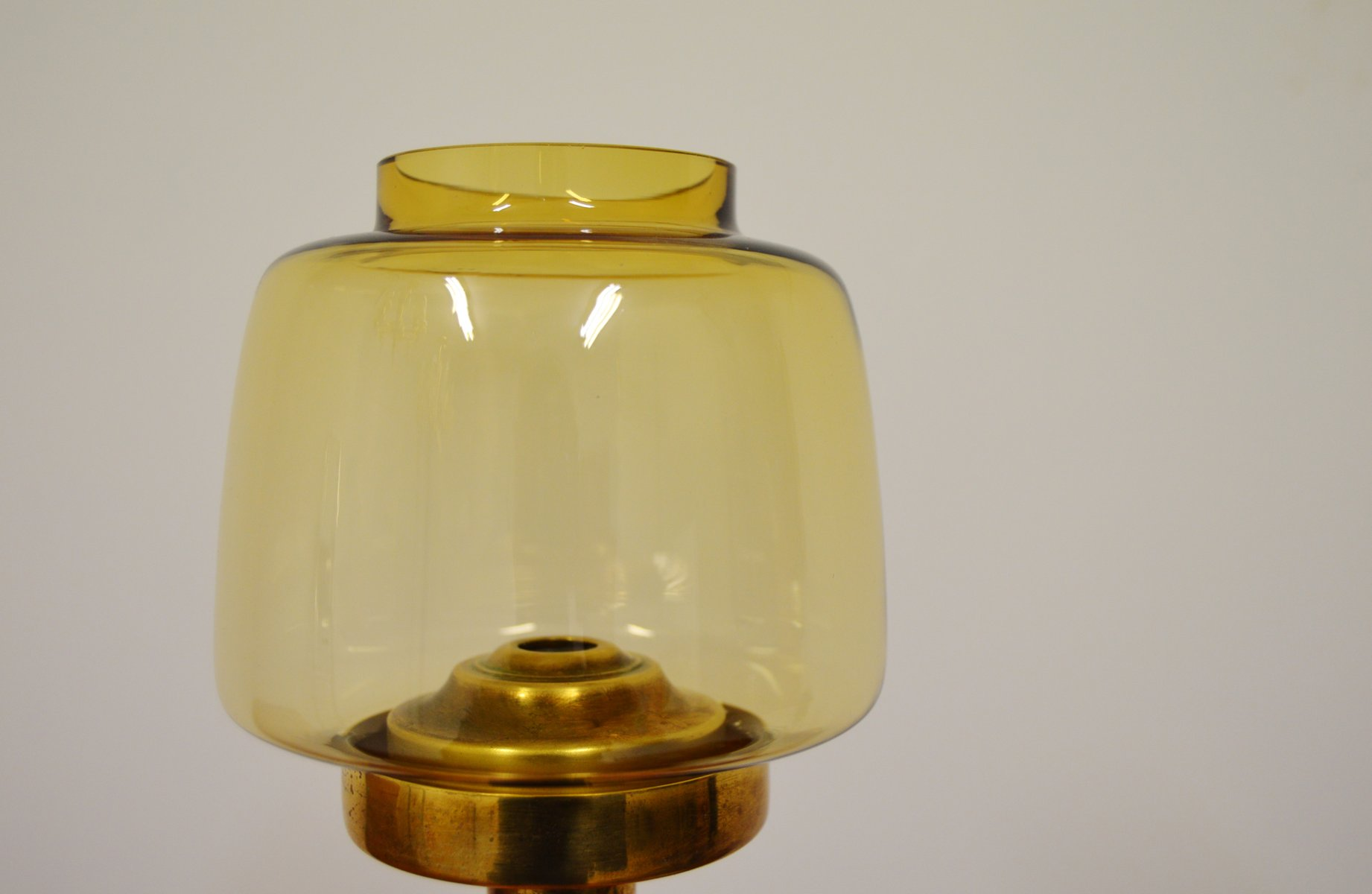 Vintage Wall-Mounted Brass & Glass Candle Holder by Hans-Agne ...