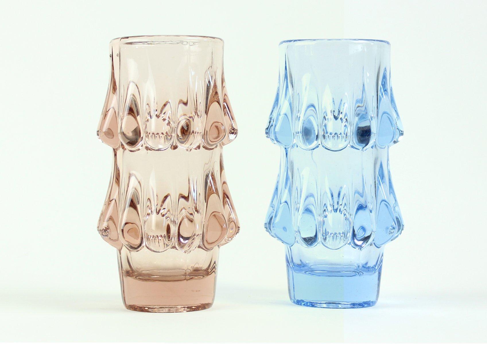 Vintage pink blue glass vases by jiri brabec for sklo union vintage pink blue glass vases by jiri brabec for sklo union rosice 1978 set of 2 for sale at pamono reviewsmspy