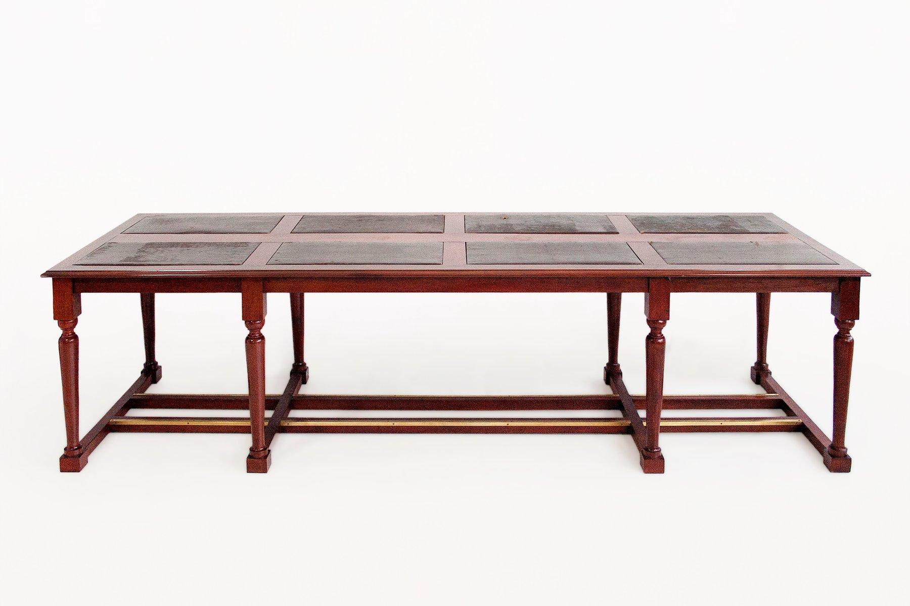 gro er mahagoni bibliothek tisch 19 jh bei pamono kaufen. Black Bedroom Furniture Sets. Home Design Ideas