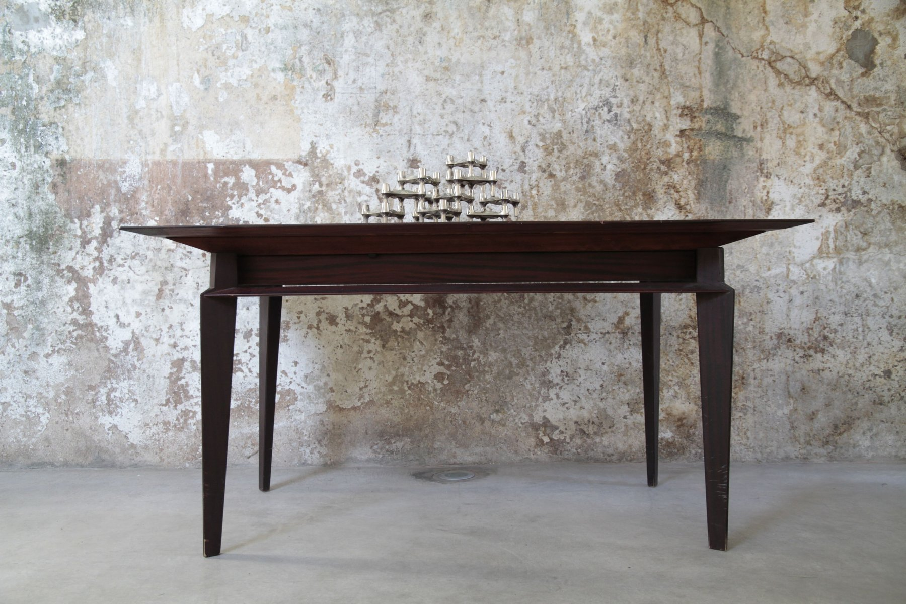 Tavolo da pranzo allungabile in palissandro di Vittorio Dassi per ...