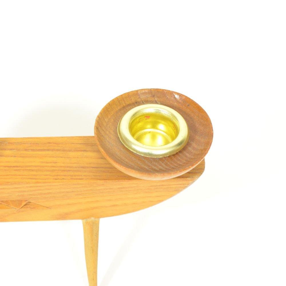 tschechischer vintage holz kerzenst nder von kr sn jizba. Black Bedroom Furniture Sets. Home Design Ideas