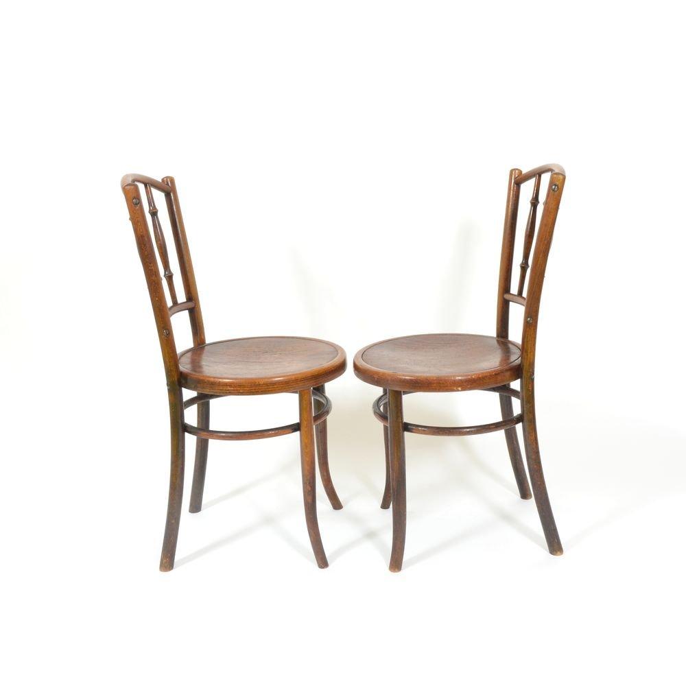 vintage st hle von thonet 2er set bei pamono kaufen. Black Bedroom Furniture Sets. Home Design Ideas
