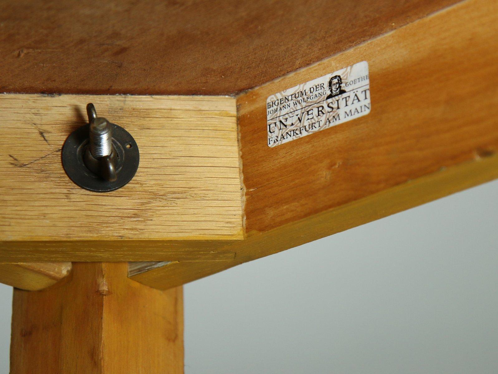 Linoleum Frankfurt table with linoleum top by ferdinand kramer 1960s for sale at pamono