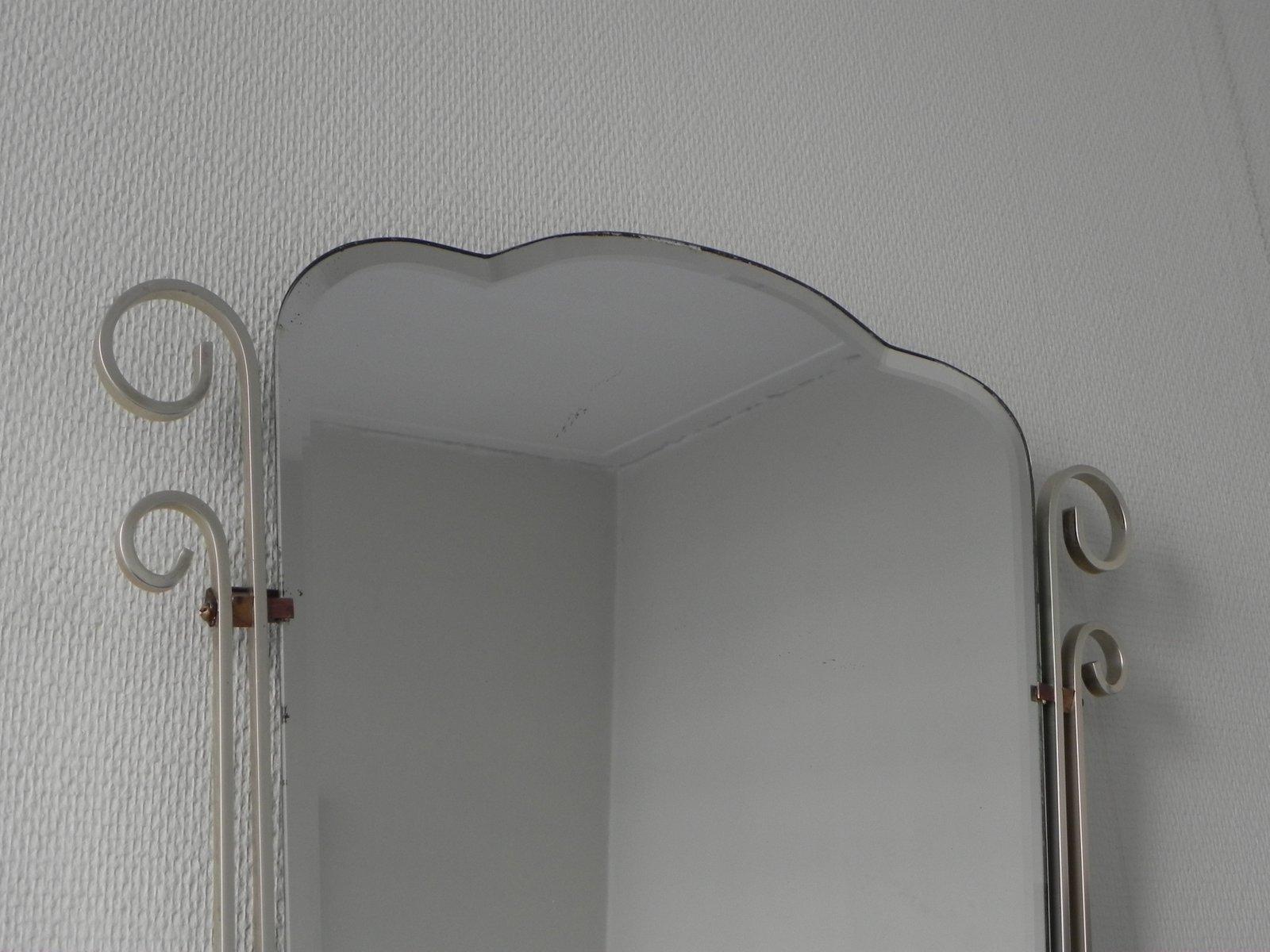 belgischer vintage spiegel mit aluminium rahmen bei pamono. Black Bedroom Furniture Sets. Home Design Ideas