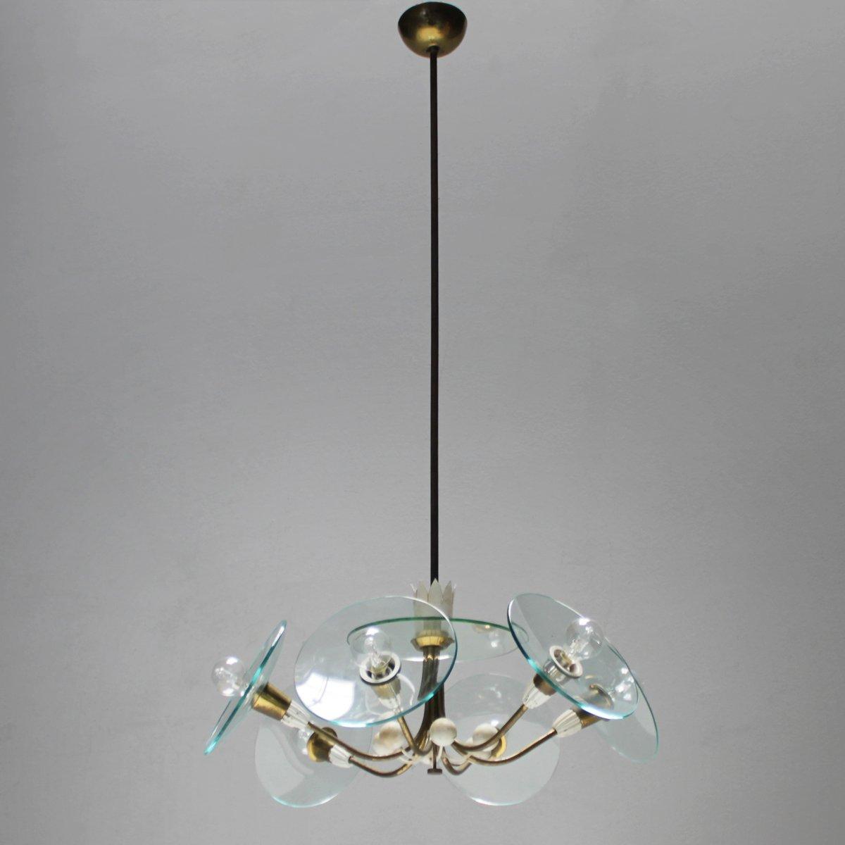 vintage kronleuchter von pietro chiesa f r fontana arte bei pamono kaufen. Black Bedroom Furniture Sets. Home Design Ideas
