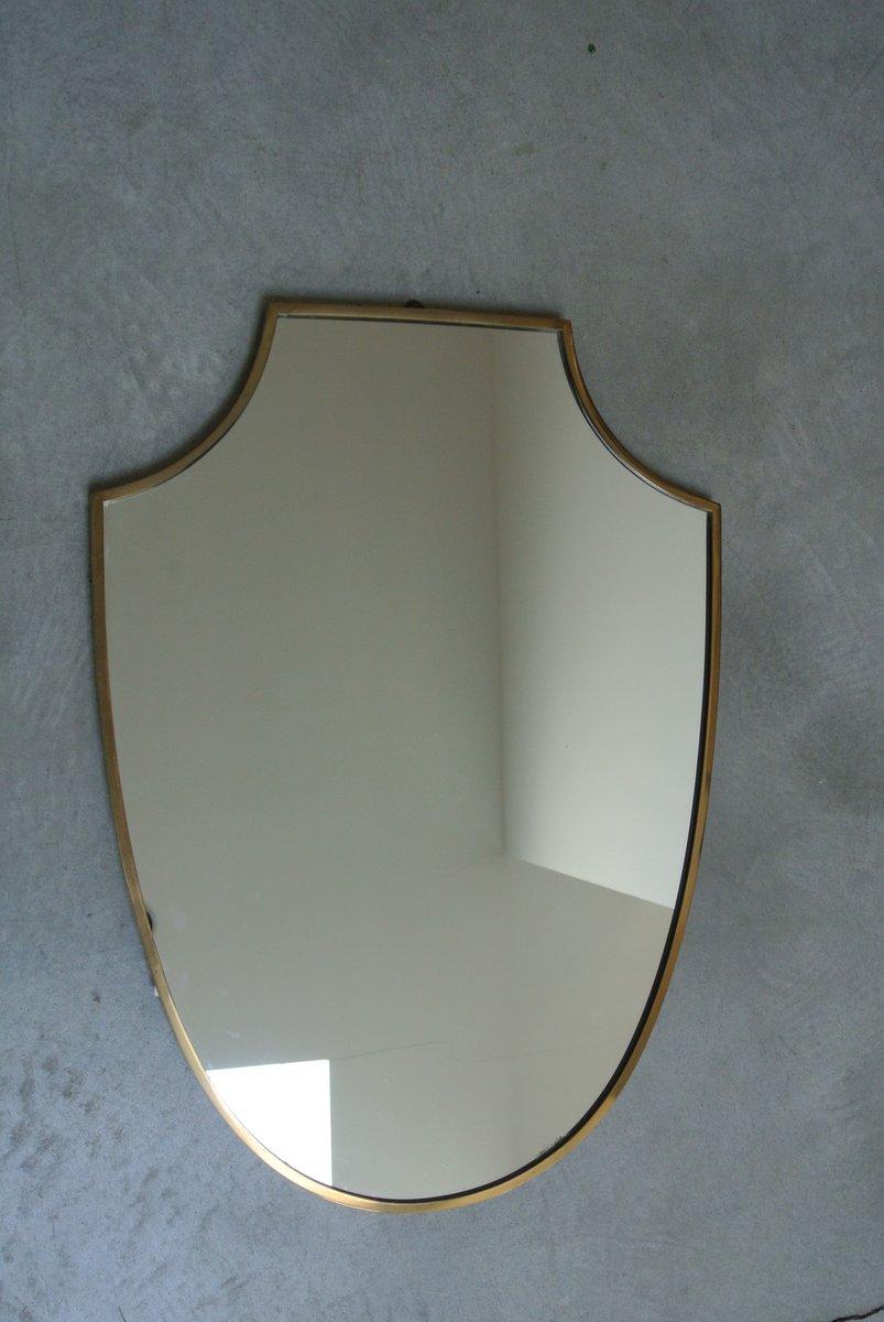 mid century spiegel mit rahmen aus messing 1950er bei. Black Bedroom Furniture Sets. Home Design Ideas