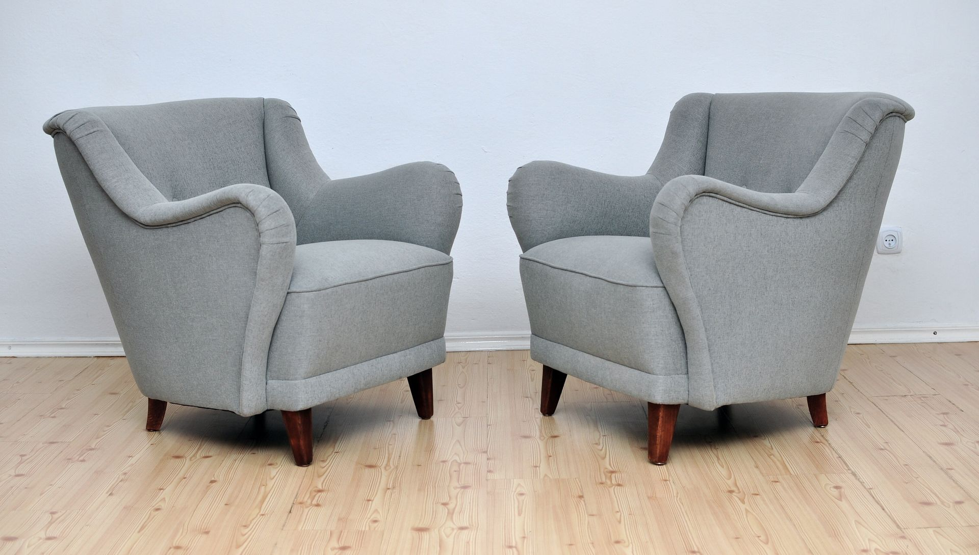 Grey armchairs 1950s set of 2 for sale at pamono for 2 armchairs for sale
