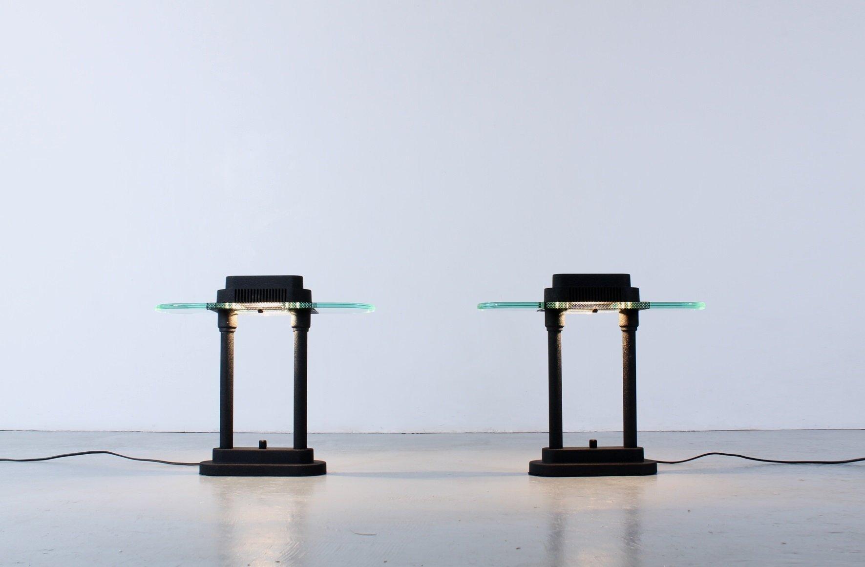 Lampade da scrivania nere anni 39 80 set di 2 in vendita - Lampade da scrivania design ...
