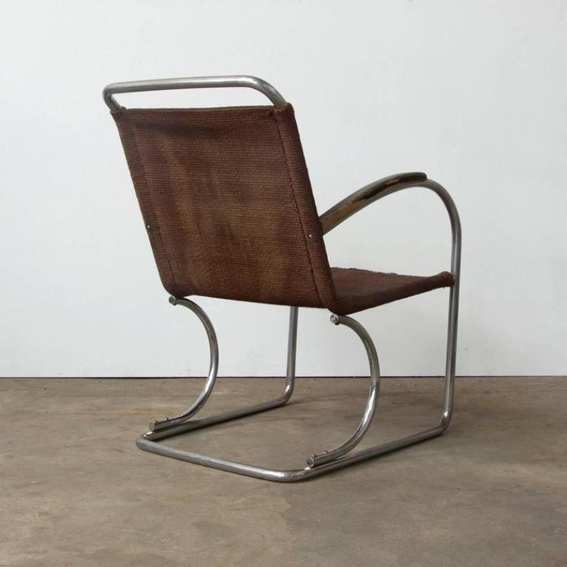 Vintage Tubular Easy Chair, 1930s For Sale At Pamono