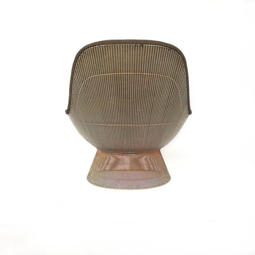 Elegant High Back Lounge Chair By Warren Platner For Knoll Inc, 1960s