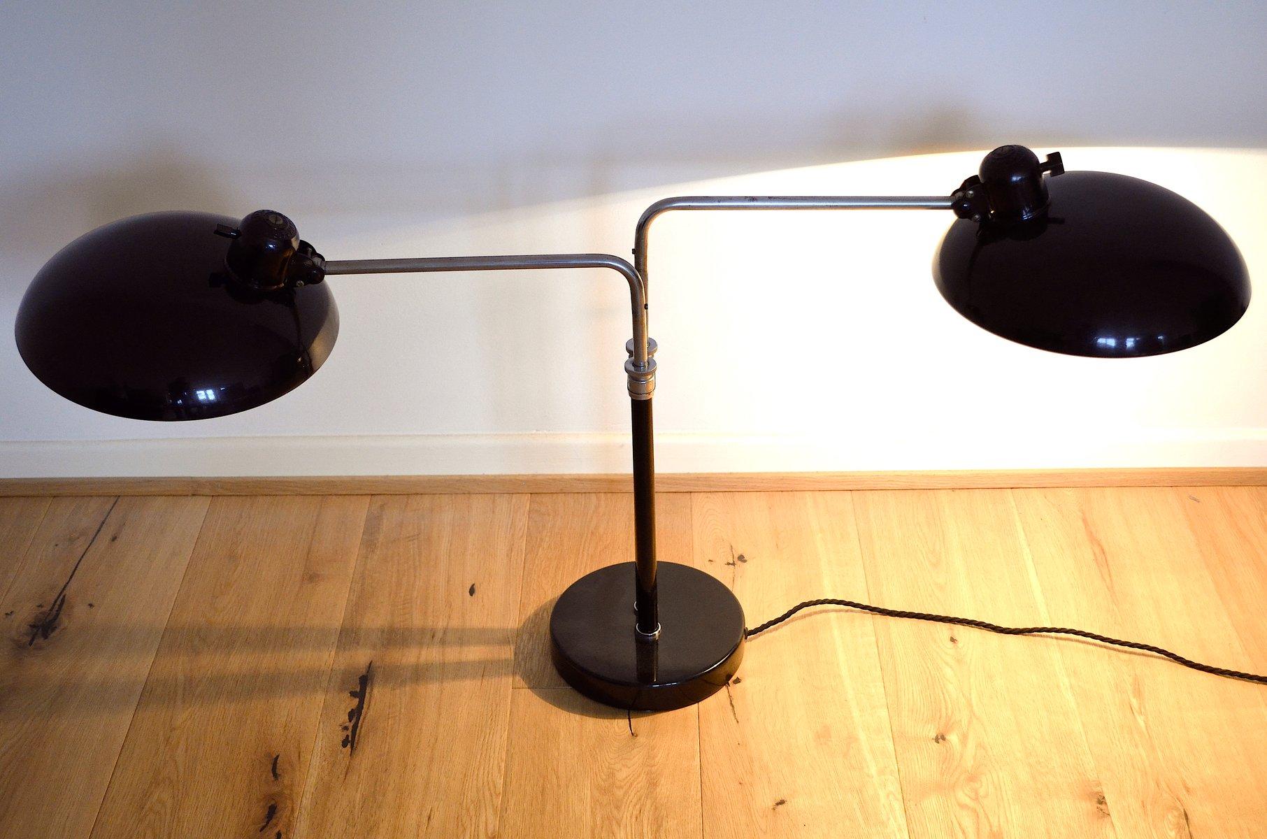 vintage modell 6580 lampe mit 2 leuchten von christian dell f r kaiser idell bei pamono kaufen. Black Bedroom Furniture Sets. Home Design Ideas