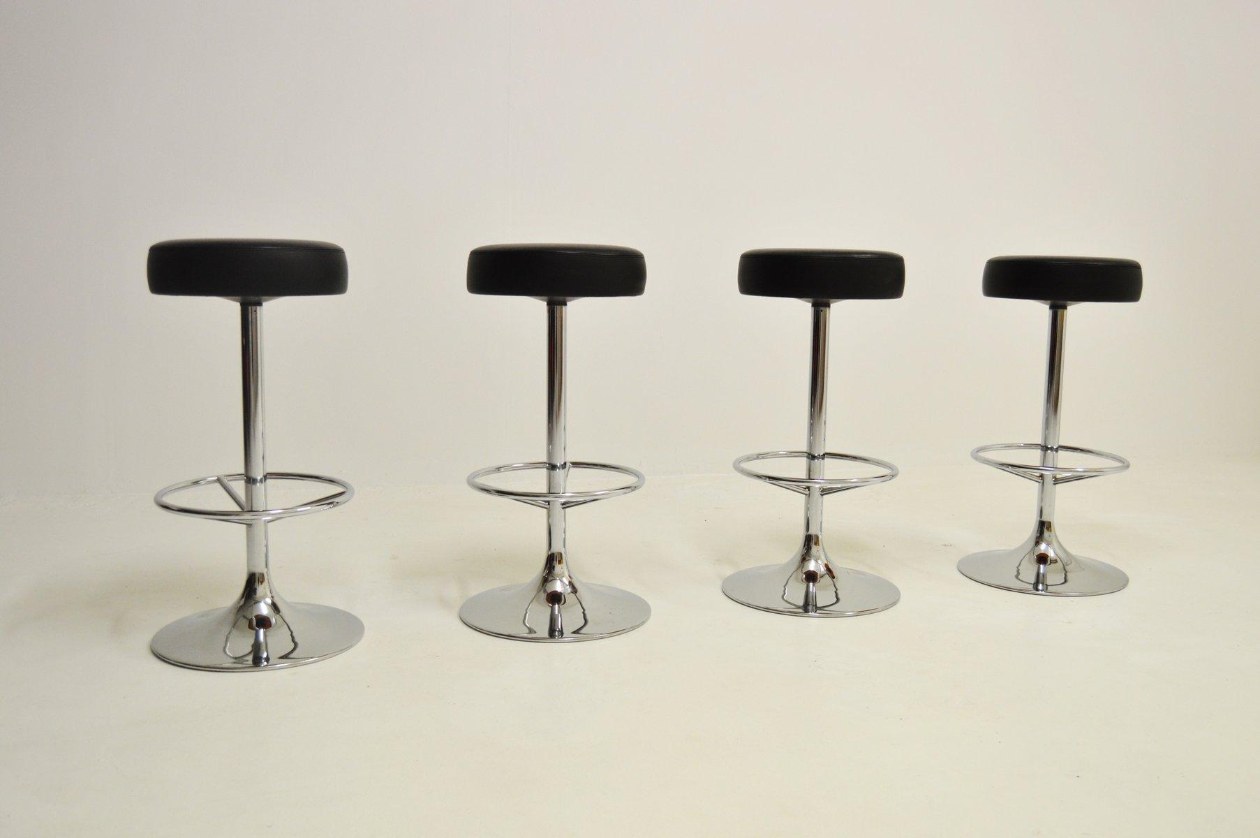 Barhocker Design verchromte vintage barhocker johansson design 4er set bei
