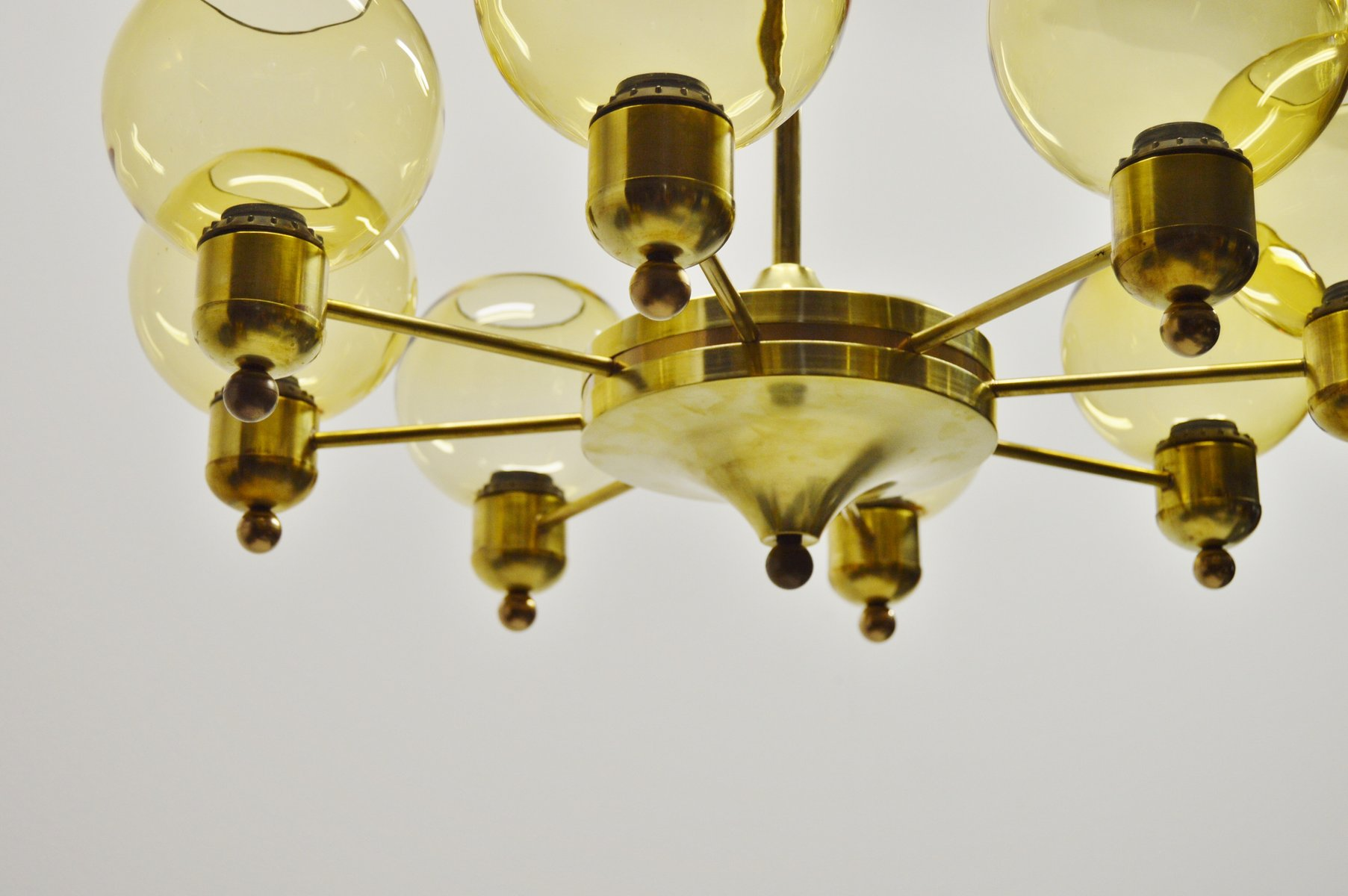 Brass Chandeliers 1960s Set Of 2 For Sale At Pamono