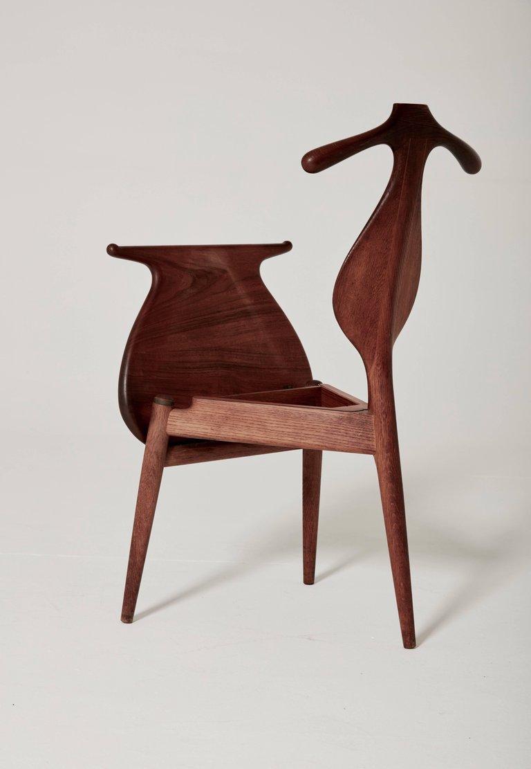 mid century valet chair by hans wegner for johannes hansen for sale at pamono. Black Bedroom Furniture Sets. Home Design Ideas