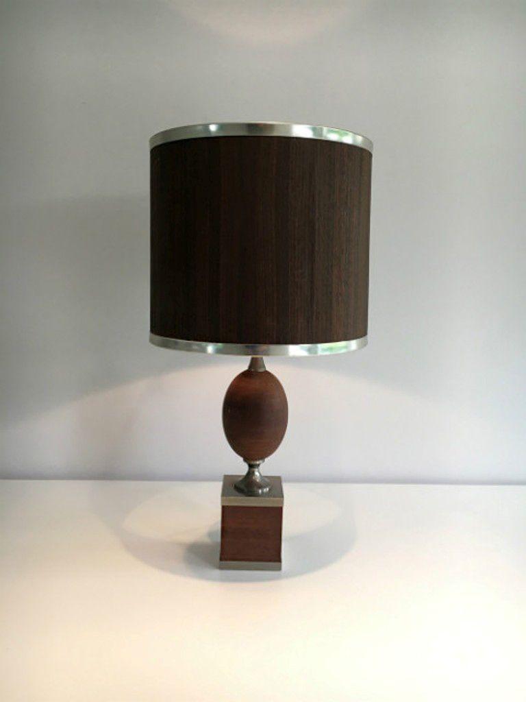 Wood and brushed steel table lamp 1970s en venta en pamono wood and brushed steel table lamp 1970s aloadofball Choice Image
