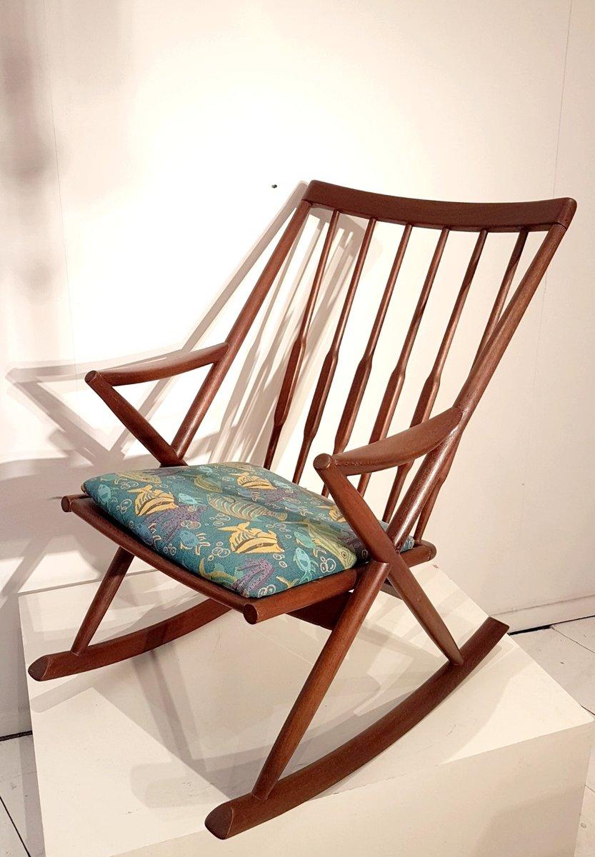 Sedia a dondolo, Scandinavia, anni \'60 in vendita su Pamono