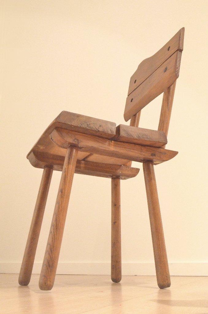 brutalistische franz sische mid century esszimmerst hle. Black Bedroom Furniture Sets. Home Design Ideas