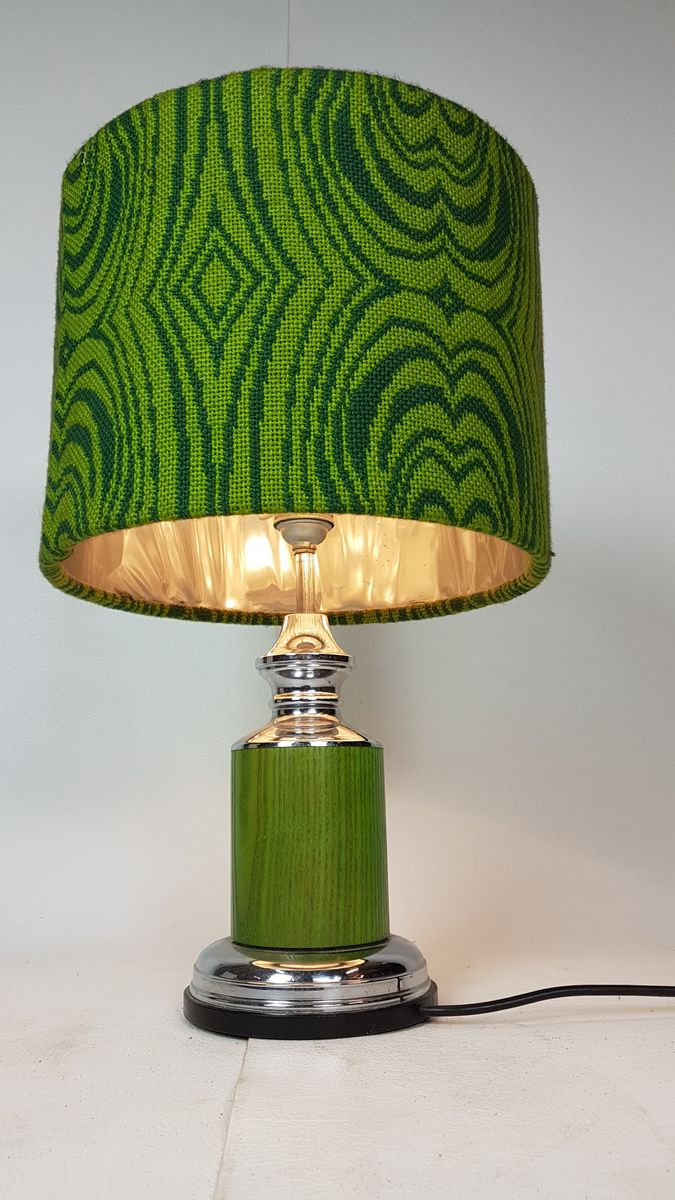 lampe aus wolle chrom von gura leuchten 1960er bei pamono kaufen. Black Bedroom Furniture Sets. Home Design Ideas