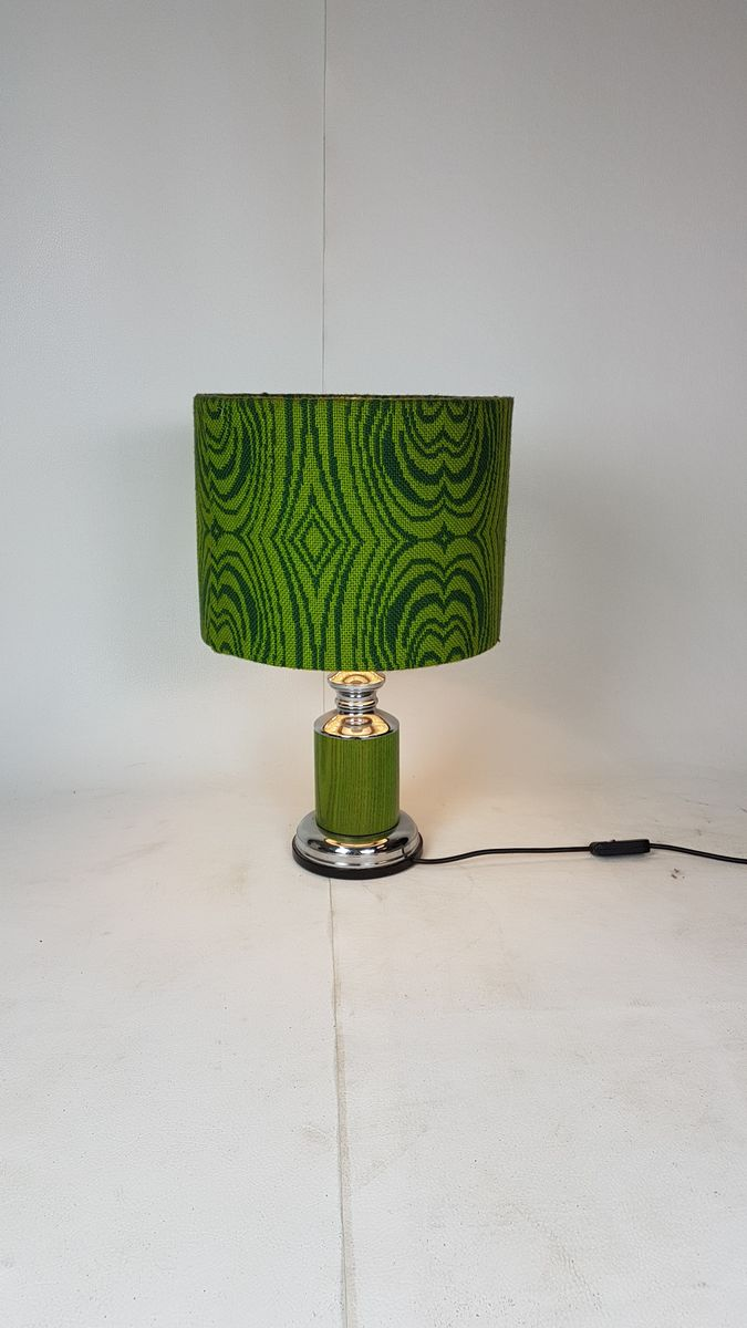 lampe aus wolle chrom von gura leuchten 1960er bei pamono kaufen. Black Bedroom Furniture Sets. Home Design Ideas