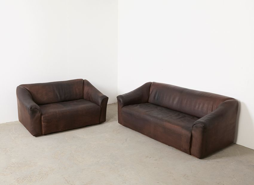 ds 47 3 und 2 sitzer sofas f r de sede 1970er bei pamono. Black Bedroom Furniture Sets. Home Design Ideas