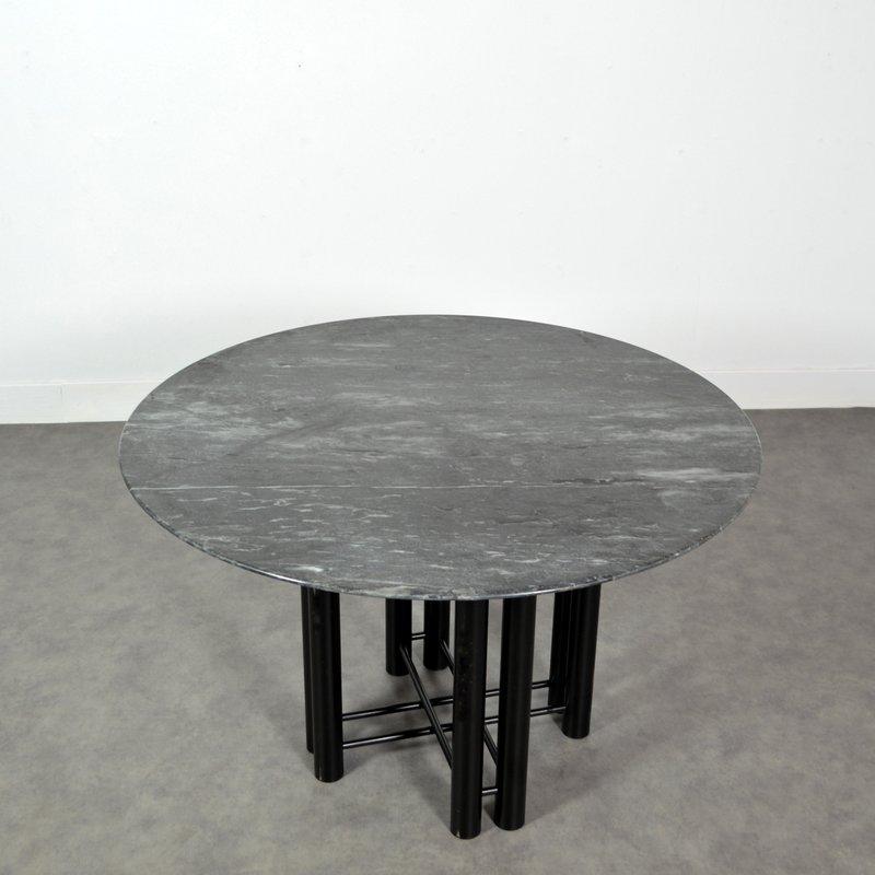 esstisch aus marmor metall 1980er bei pamono kaufen. Black Bedroom Furniture Sets. Home Design Ideas