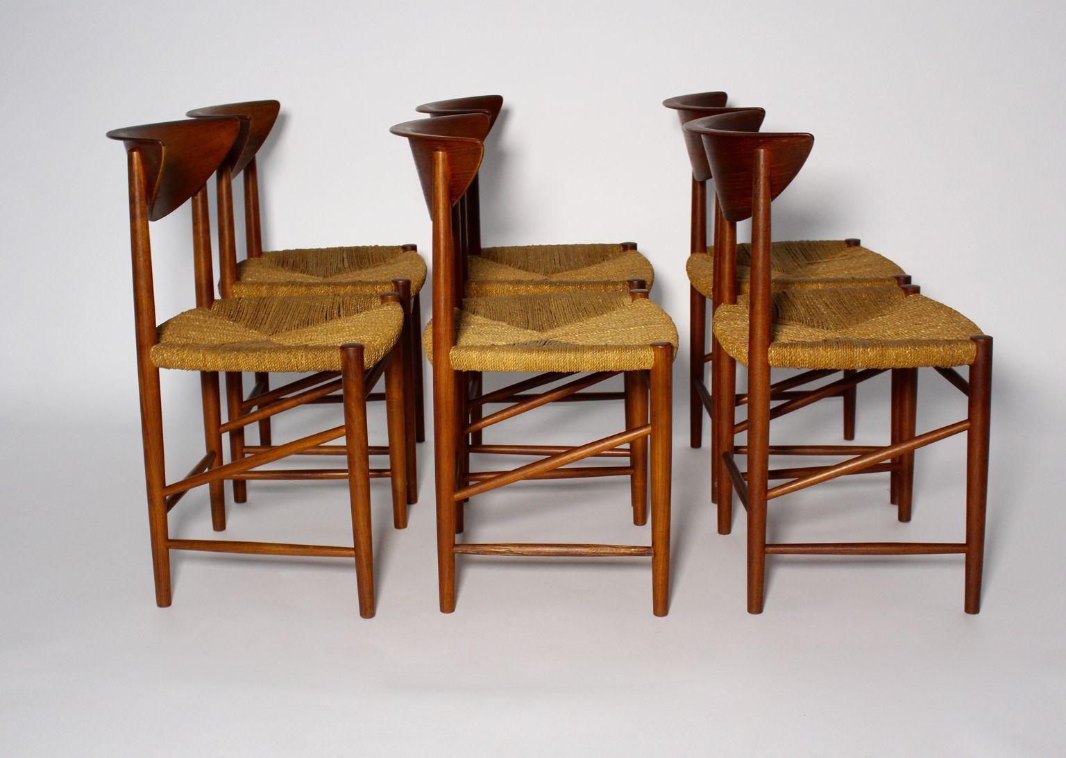 Chairs By Peter Hvidt U0026 Orly Moolgard Nielsen For Søborg Møbelfabrik,  1960s, Set Of 6