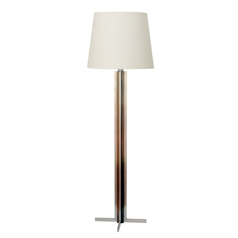 Vintage french floor lamp in wood and steel for sale at pamono price per piece aloadofball Choice Image