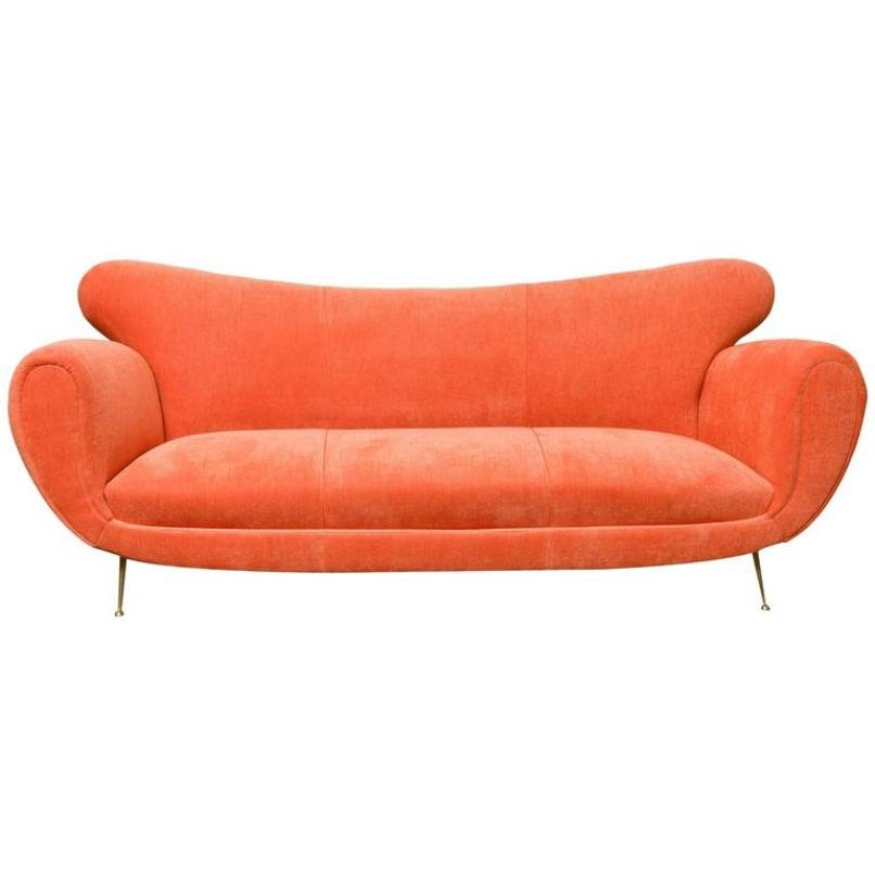 italienisches sofa mit elitis bezug 1950er bei pamono kaufen. Black Bedroom Furniture Sets. Home Design Ideas