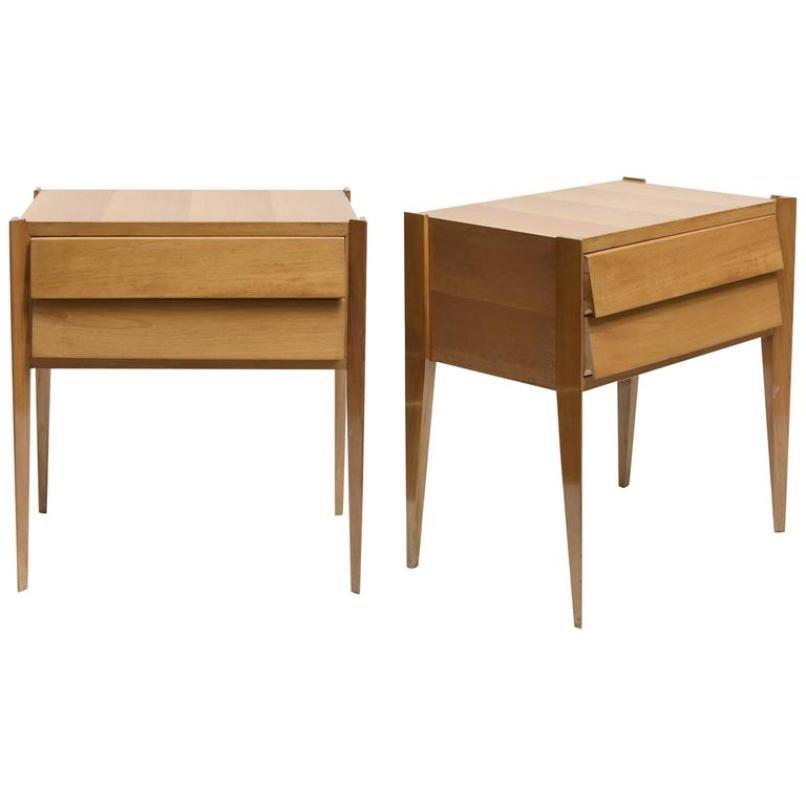 mid century modern beistelltische 2er set bei pamono kaufen. Black Bedroom Furniture Sets. Home Design Ideas