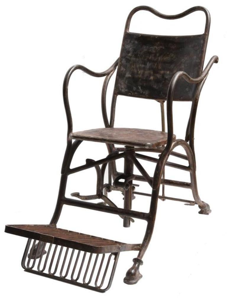 Italian Iron Medical Armchair