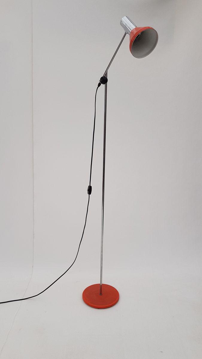 orange stehlampe von gura leuchten 1960er bei pamono kaufen. Black Bedroom Furniture Sets. Home Design Ideas