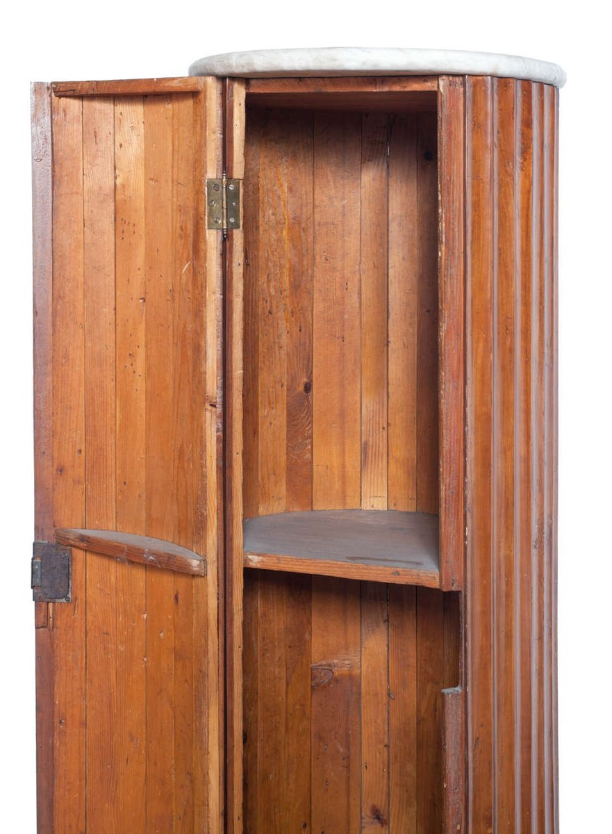 Price per piece - Antique Cherry Wood Empire Column With Storage For Sale At Pamono